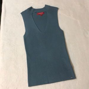 Guess V-neck Sleeveless Top